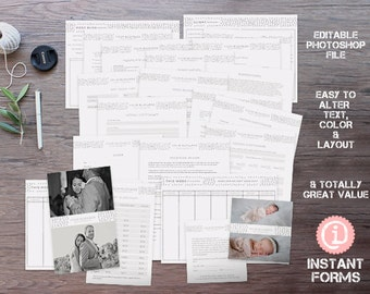 Photography Contract Forms and Bloggers Kit - IF098 - INSTANT DOWNLOAD. You'll receive 22 psd files