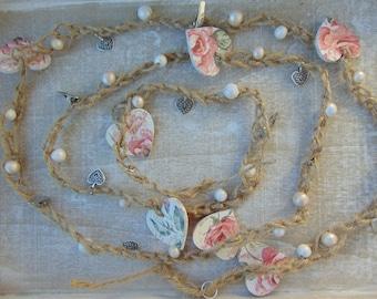 Rose Heart Garland