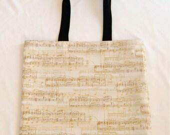 Sheet Music Print Tote Bag