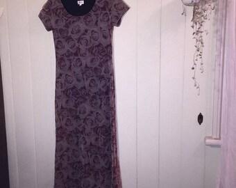Sheer rose print dress