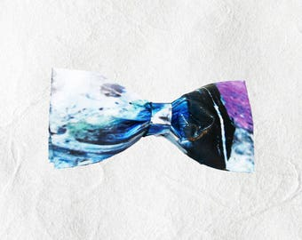 Abstract Blue Beaux-Tie