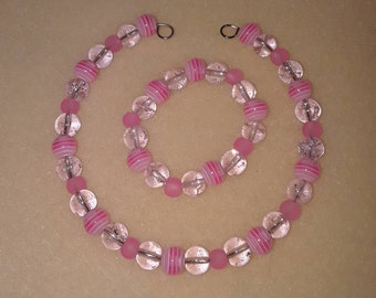 Pink Doll Necklace and Bracelet set to fit American Girl Dolls or any 18inch similar sized doll