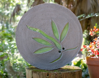 Lime Green Dragonfly Stepping Stone