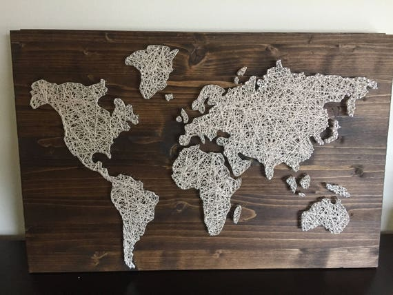 Custom made to order world map string art gumiabroncs Gallery