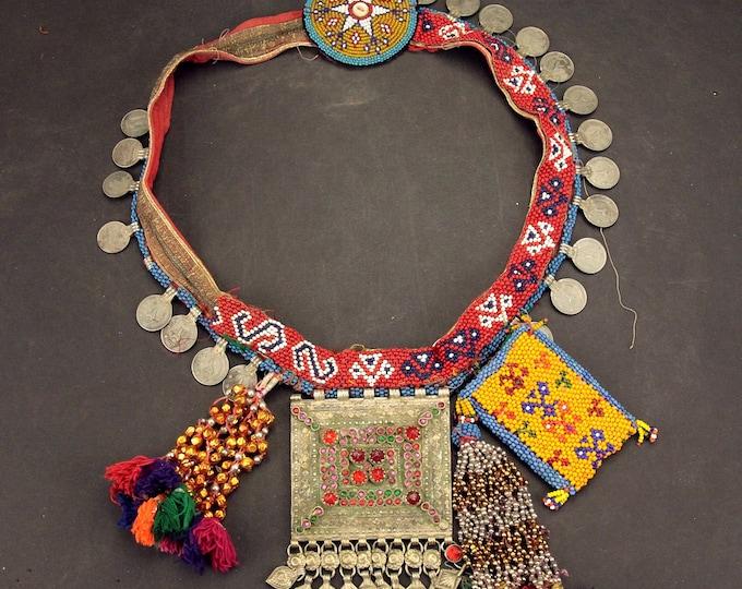 Afghan Tribal BELT Bellydance Dangles Turkoman 868j7