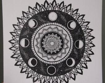 8x10 Moon Cycle Mandala 2