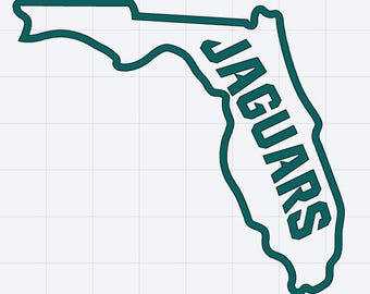 Jacksonville Jaguars Florida Decal