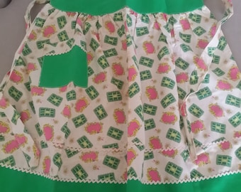 Vintage/Retro Cotton Handmade Apron