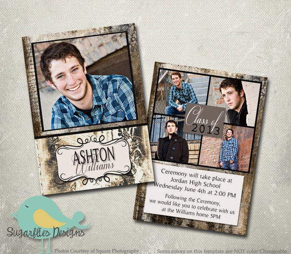 free senior templates for photoshop - graduation announcement photoshop template senior graduation