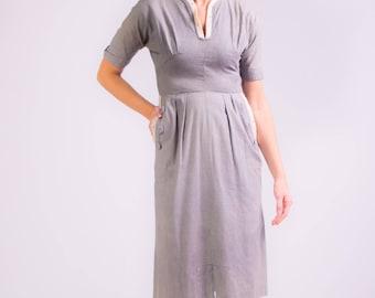 1940's Vicky Vaughn Sheath Dress 40's Day Dress.