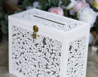Wedding card box with slot | Etsy