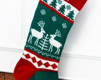 Wool Christmas Stocking Reindeer (Personalized)