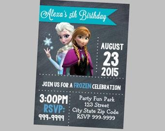 Frozen Birthday Invitation 4x6 or 5x7