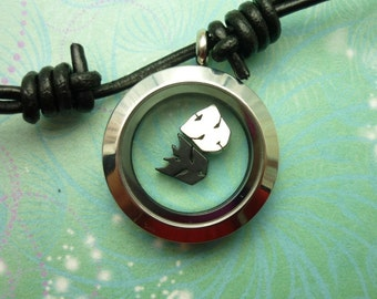 Stainless Steel Locket Necklace Pendant Leather Floating Transformers Charms - Autobot -  Decepticon