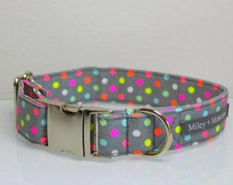 Fluro Spots Dog Collar