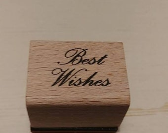 Retired Rubber Stamp    -    Best Wishes