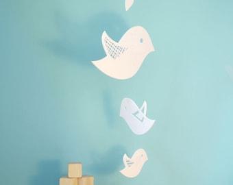 Bird Mobile, Baby Crib Mobile, Baby Mobile, Nursery Mobile Decor - Flock of Birds Mobile
