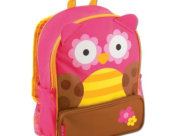 Personalized Stephen Joseph OWL Sidekick Backpack, Kids Backpack, Children's Backpack