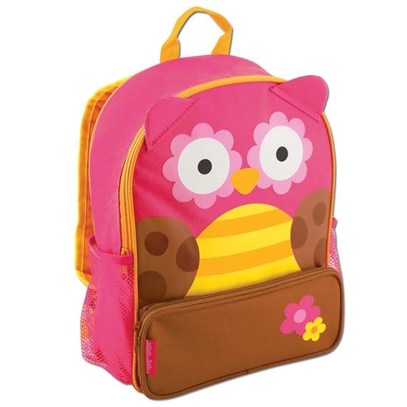 Personalized Stephen Joseph OWL Sidekick Backpack and Lunch Pal Combo.