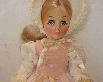 """Reduced to Sell - Vintage 1976 Effanbee """"Little Bo-Peep"""" DOLL with Metal Stand - Pre-Owned - Missing Staff & Shoes - Sold AS IS!"""