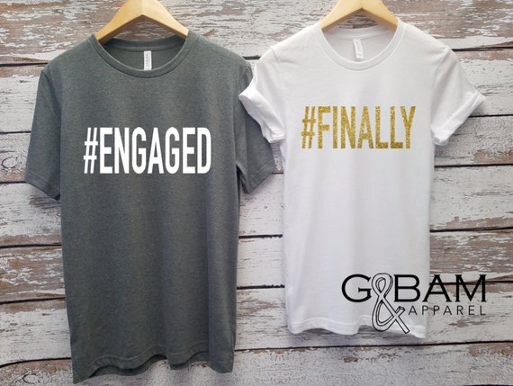 Engaged Shirt / We're Engaged / Engagement Shirt / Future Mrs Shirt