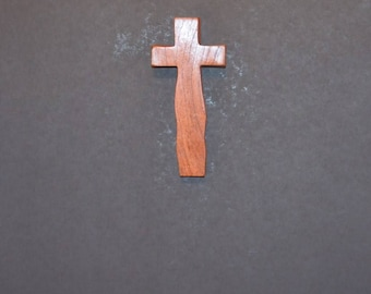 "Wooden Wall Cross; 3.5""x7""x1""; Rustic Cabin Decor;  Wall Cross Decor; Crooked Cross; Mesquite; Handmade;  Free Ground Shipping cc15-1121617"