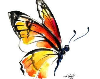 Monarch Butterfly No. 3 ... art archival print from original painting by Kathy Morton Stanion EBSQ