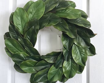 Magnolia Wreath, 21 inches, Farmhouse Wreath, Fixer Upper Wreath, Front Door Wreath, Farmhouse Decor, Year Round Wreath, Spring, Summer