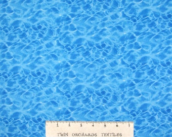 Landscape Medley Fabric - Blue Pool Water Ripples - Elizabeth's Studio YARD
