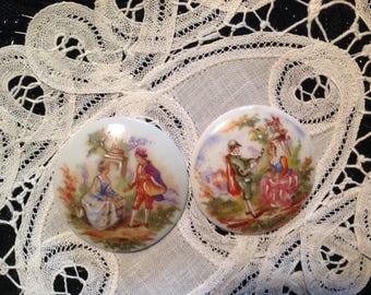 Vintage late 20 century Limoges porcelain plates