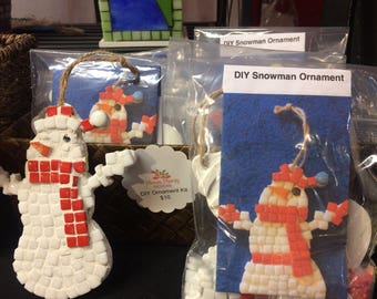 Snowman ornament kit, Do it yourself ornament kit, Childrens ornament kit, Kids craft kit