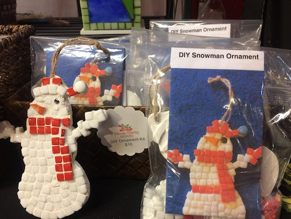 Snowman ornament kit do it yourself ornament kit childrens solutioingenieria Gallery