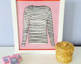 FRENCH STRIPED SHIRT Print