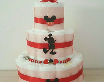 "gorgeous ""mini mickey"" layer cake"