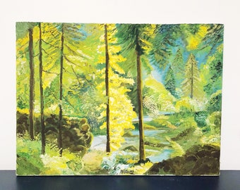 Forest Scenery Landscape Painting | Acrylic on Canvas