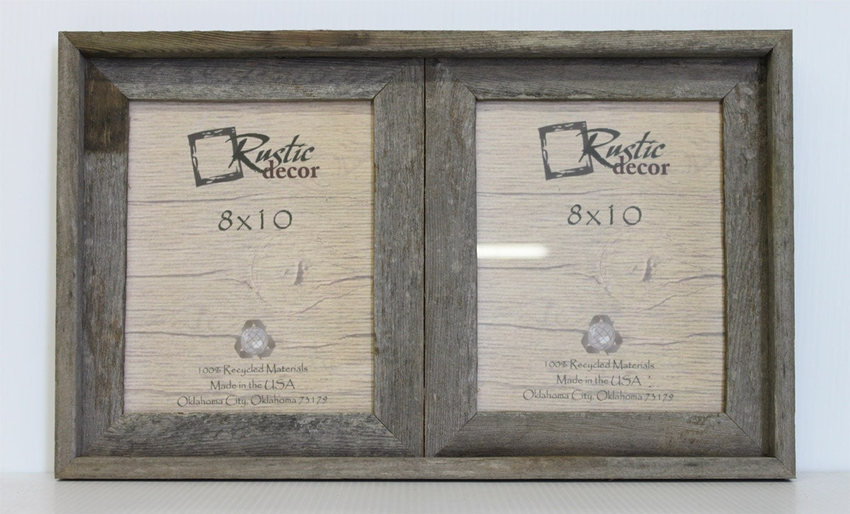 8x10 2 wide rustic barn wood double opening frame zoom jeuxipadfo Gallery