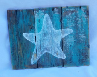 Small starfish pallet sign