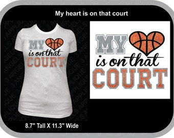 My Heart Is On That Court  SVG Cutter Design INSTANT DOWNLOAD