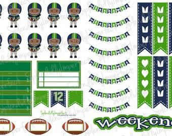 Seattle Football Planner Stickers