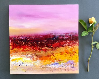 Original landscape painting, abstract art, acrylic