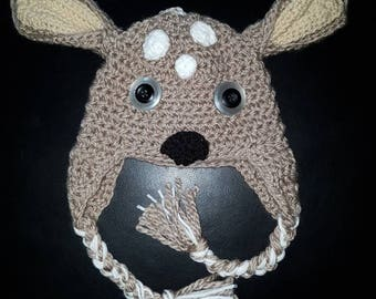 Fawn 3-9 Month Baby Hat