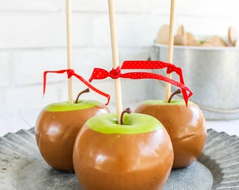 Caramel Apples-  Fake Sweets, Props, and Party Decor