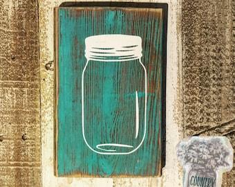 Wooden Mason Jar Sign