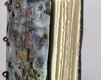 Copper/Metal Wedding/Shower Guest Book-Diary-Photo Album-Rustic Art Work-Unique Gift Idea
