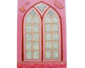 Pink fairy door Glowing in the dark pixie magical portal Kids gift for baby girl Romantic gift for girl Unusual_handpainted_fairy_door 38