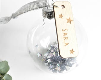 Personalised Glass Bauble | Personalised bauble | Glass Ornaments | Wedding Baubles | Bridesmaid Token