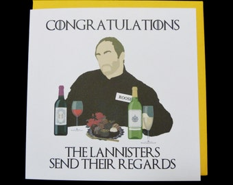 Game of Thrones Red Wedding Congratulations Card