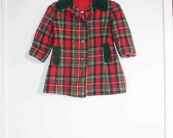 Vintage Plaid Girl's Jacket