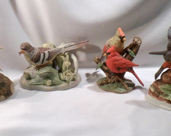 Collection of 4 Figurines of Songbirds, 4 Different Manufacturers