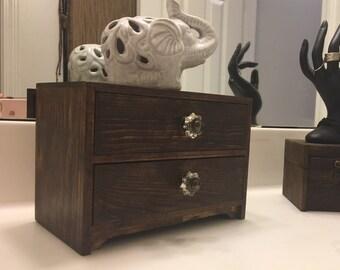 Two Drawer Custom Vintage Jewelry Box